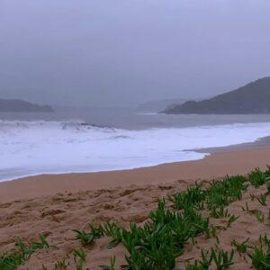 Ocean Waves Crashing at Stormy Beach w/ Sea Rain | Relaxing Sounds for Sleep & Tinnitus: Brown Noise