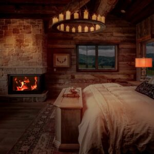 🔥 Crackling Fire, Rain on Window & Thunder for Relaxing, Sleeping, Insomnia - Cozy Ambience 8K
