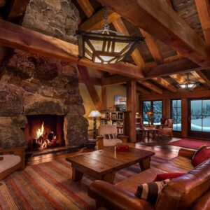 🔥 Crackling Fire w/ Snowstorm & Blizzard Sounds for Relax, Sleep, Insomnia - Cozy Cabin Ambience 8K