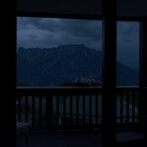 Rain on Window w/ Rumbling Thunder Sounds 4K - Thunderstorm Sounds for Sleep, Relaxation & Study