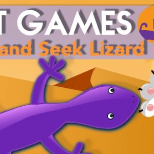 🦎 Games for Cats - HIDE & SEEK Lizard Chase (CAT TV) 🦎