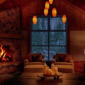 Cozy Hut Ambience 8K - Crackling Fire, Rain and Thunder Sounds