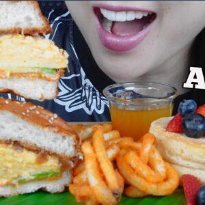 eating breakfast for dinner asmr sounds soft whispers sas asmr