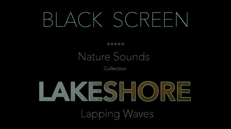 BLACK SCREEN LAKESHORE WAVE SOUNDS-Dark Screen for Relaxing Sleep-Calm Gentle Waves Nature Sound